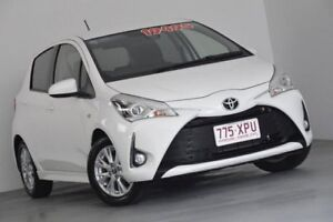 2017 Toyota Yaris NCP131R ZR White 4 Speed Automatic Hatchback
