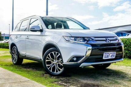 2017 Mitsubishi Outlander ZK MY18 LS AWD White 6 Speed Constant Variable Wagon Wangara Wanneroo Area Preview