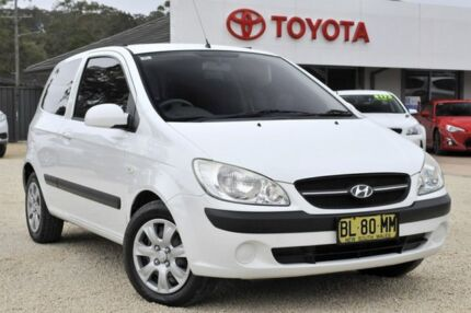 2010 Hyundai Getz TB MY09 S White 5 Speed Manual Hatchback Lisarow Gosford Area Preview