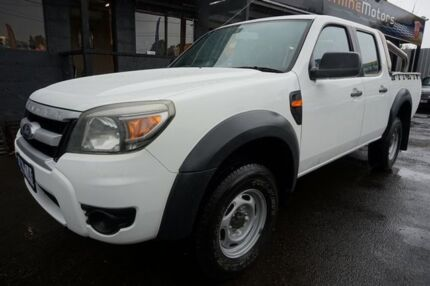 2010 Ford Ranger PK XL Crew Cab Hi-Rider Cool White 5 Speed Automatic Utility