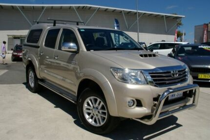 2014 Toyota Hilux GGN15R MY14 SR5 Double Cab Gold 5 Speed Automatic Utility