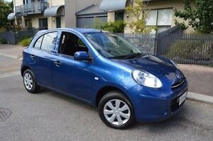 2014 Nissan Micra K13 Series 4 MY15 ST Blue 5 Speed Manual Hatchback Stepney Norwood Area Preview