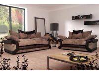 Cheapest Price -- Jumbocoard Fabric -- Dino Corner / 3+2 Sofa -- Same Day Delivery