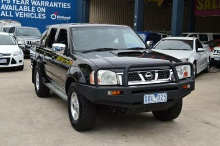 2009 Nissan Navara D22 MY08 ST-R (4x4) Black 5 Speed Manual Dual Cab Pick-up Tottenham Maribyrnong Area Preview