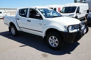2012 Mitsubishi Triton MN MY12 GLX Double Cab White 4 Speed Automatic Utility Pearsall Wanneroo Area Preview