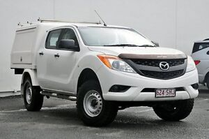 2012 Mazda BT-50 UP0YF1 XT White 6 Speed Manual Utility Tweed Heads South Tweed Heads Area Preview