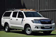 2012 Toyota Hilux GGN15R MY12 SR Double Cab White 5 Speed Automatic Utility Wantirna South Knox Area Preview