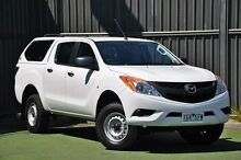 2013 Mazda BT-50 UP0YF1 XT 4x2 Hi-Rider White 6 Speed Sports Automatic Utility Wantirna South Knox Area Preview