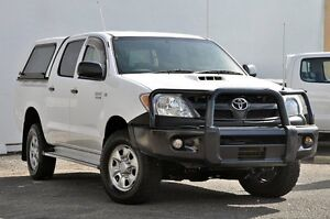 2008 Toyota Hilux KUN26R MY08 SR White 5 Speed Manual Utility Tweed Heads South Tweed Heads Area Preview