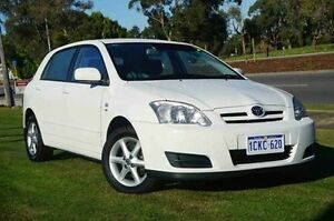 2006 Toyota Corolla ZZE122R 5Y Conquest White 4 Speed Automatic Hatchback Wangara Wanneroo Area Preview