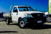 2008 Toyota Hilux TGN16R 07 Upgrade Workmate White 5 Speed Manual Cab Chassis Wangara Wanneroo Area Preview