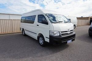 2011 Toyota Hiace KDH223R MY11 Commuter High Roof Super LWB White 5 Speed Manual Bus Pearsall Wanneroo Area Preview