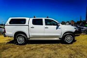 2013 Toyota Hilux KUN26R MY12 SR5 Double Cab White 5 Speed Manual Utility Wangara Wanneroo Area Preview