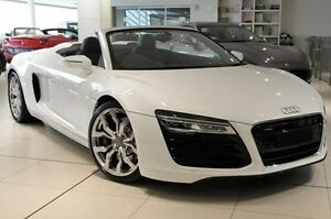 2015 Audi R8 MY15 Spyder S tronic quattro White 7 Speed Sports Automatic Dual Clutch Convertible North Melbourne Melbourne City Preview