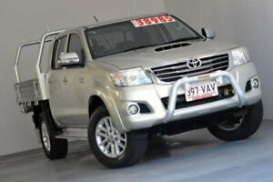 2014 Toyota Hilux KUN26R MY14 SR5 Double Cab Silver 5 Speed Automatic Utility Albion Brisbane North East Preview