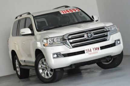 2018 Toyota Landcruiser VDJ200R Sahara White 6 Speed Sports Automatic Wagon Albion Brisbane North East Preview