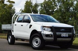2013 Ford Ranger PX XL Double Cab White 6 Speed Manual Cab Chassis Thorngate Prospect Area Preview