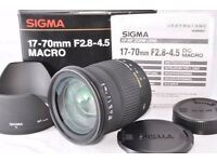 BRAND NEW BOXED SIGMA 17-70MM F2.8-4.5 MACRO LENS