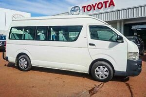 2009 Toyota Hiace KDH223R MY08 Commuter High Roof Super LWB White 5 Speed Manual Bus Westminster Stirling Area Preview