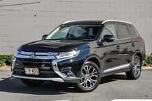 2015 Mitsubishi Outlander ZK MY16 LS 4WD Black 6 Speed Constant Variable Wagon Main Beach Gold Coast City Preview