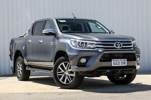 2015 Toyota Hilux GUN126R SR5 Double Cab Grey 6 Speed Sports Automatic Utility Willetton Canning Area Preview