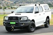 2013 Toyota Hilux KUN26R MY12 SR Double Cab White 5 Speed Manual Utility Derwent Park Glenorchy Area Preview
