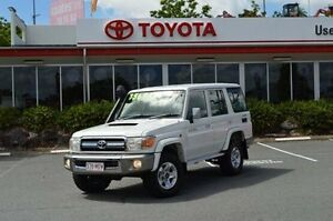 2011 Toyota Landcruiser VDJ76R MY10 GXL White 5 Speed Manual Wagon Highland Park Gold Coast City Preview