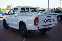 2010 Toyota Hilux KUN26R MY10 SR White 5 Speed Manual Utility Wangara Wanneroo Area Preview