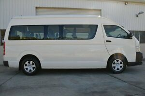 2012 Toyota Hiace KDH223R MY12 Commuter High Roof Super LWB White 4 Speed Automatic Bus Ashmore Gold Coast City Preview