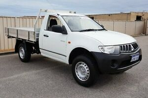 2008 Mitsubishi Triton ML MY08 GL White 5 Speed Manual Cab Chassis Pearsall Wanneroo Area Preview