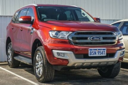 2017 Ford Everest UA Trend 4WD Maroon 6 Speed Sports Automatic Wagon