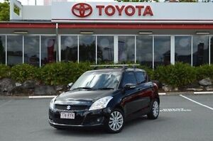 2011 Suzuki Swift Black Manual Hatchback Highland Park Gold Coast City Preview