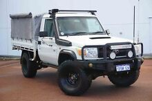 2011 Toyota Landcruiser VDJ79R MY10 Workmate White 5 Speed Manual Cab Chassis Wangara Wanneroo Area Preview