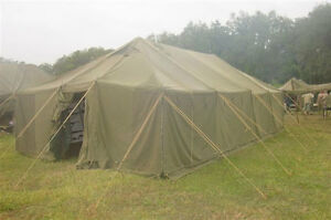 Army Surplus Canvas Wall Tent