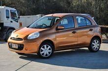 2011 Nissan Micra K13 ST-L Orange 5 Speed Manual Hatchback Helensvale Gold Coast North Preview