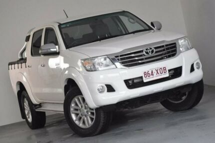 2013 Toyota Hilux GGN25R MY12 SR5 Double Cab White 5 Speed Automatic Utility