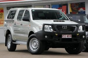 2012 Toyota Hilux KUN26R MY12 SR Double Cab Silver 4 Speed Automatic Utility Woolloongabba Brisbane South West Preview