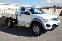2012 Mitsubishi Triton MN MY12 GLX White 5 Speed Manual Cab Chassis Pearsall Wanneroo Area Preview