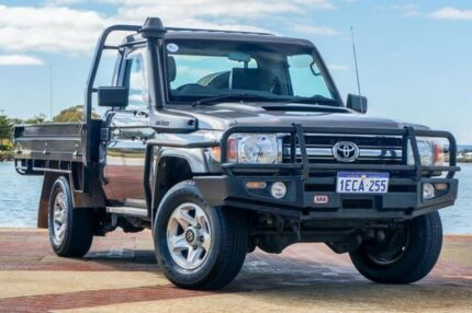 2012 Toyota Landcruiser VDJ79R MY13 GXL Grey 5 Speed Manual Cab Chassis