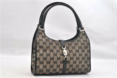 Gucci Handbag Purse Guccissima Jackie Jacky Shoulder Bag Leather GG Vintage 90s