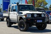 2012 Toyota Landcruiser VDJ79R MY13 Workmate Double Cab White 5 Speed Manual Cab Chassis Greenfields Mandurah Area Preview
