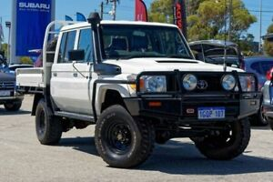 2012 Toyota Landcruiser VDJ79R MY13 Workmate Double Cab White 5 Speed Manual Cab Chassis