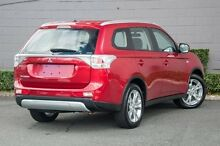 2014 Mitsubishi Outlander ZJ MY14.5 ES 4WD Red 6 Speed Constant Variable Wagon Main Beach Gold Coast City Preview