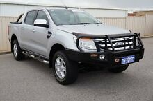 2012 Ford Ranger PX XLT Double Cab Silver 6 Speed Manual Utility Pearsall Wanneroo Area Preview