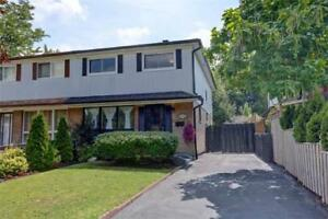 Mississauga 4 Bed 3 Bath Semi-Detached Home