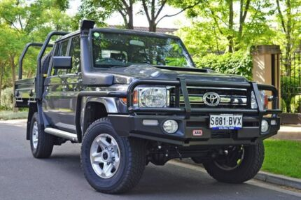2018 Toyota Landcruiser VDJ79R GXL Double Cab Grey 5 Speed Manual Cab Chassis Medindie Walkerville Area Preview