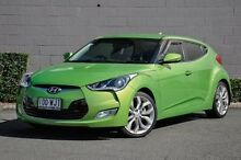 2012 Hyundai Veloster FS Coupe D-CT Green 6 Speed Sports Automatic Dual Clutch Hatchback Main Beach Gold Coast City Preview