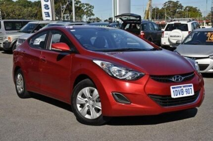 2012 Hyundai Elantra MD2 Active Red 6 Speed Auto Seq Sportshift Sedan Myaree Melville Area Preview