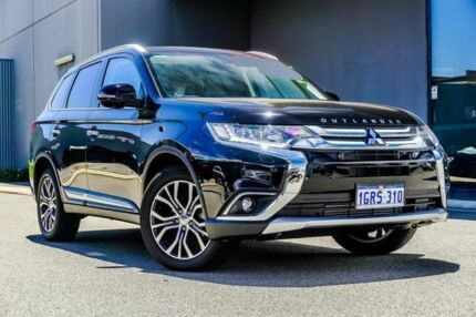 2017 Mitsubishi Outlander ZK MY17 Exceed 4WD Black 6 Speed Sports Automatic Wagon Osborne Park Stirling Area Preview