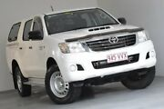 2014 Toyota Hilux KUN26R MY14 SR Double Cab White 5 Speed Automatic Utility Kedron Brisbane North East Preview